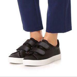 Joie black satin 'Diata' Low Sneakers 37/37.5 $228